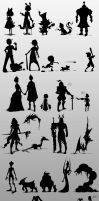 30 Silhouettes by wish04