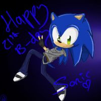 HAPPY 21ST B-DAY SONIC by SkyletAlexisJay
