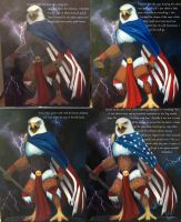 Process of Rock Flag and Eagle by SoundStar