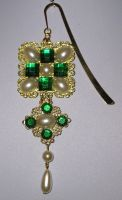Anne Boleyn Jewelled Tudor inspired book marker by Walaby1969