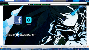 Black Rock Shooter Google Theme by g27hiba18