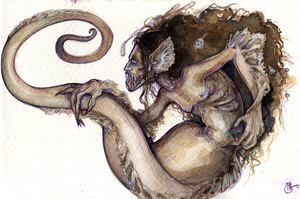 Mermaid Angler-Eel by SingularDisease