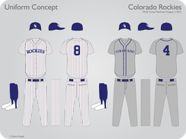Colorado Rockies 1953 Uniform by JimmyNutini