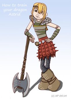 How to train your dragon Astrid by Miracoin