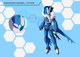 Commission: Megaman Model Latios by innovator123