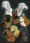 Ginga characters by Marzzunny