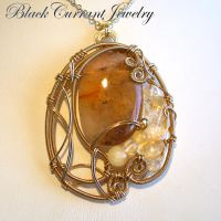Golden Sunglow Pendant by blackcurrantjewelry