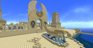 Al'darauby City entrance from the Dock's by Epic-nesFactor