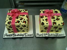 Leopard Print Present Cake PART 2 by Spudnuts