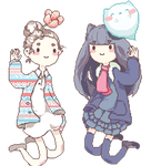 Duo Nya0h Pixel Floatys by Na0h