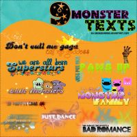 Monster Texts Png by gagauniverse