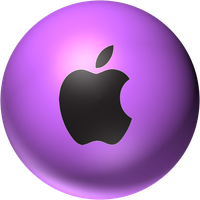 pink apple orb by desithen