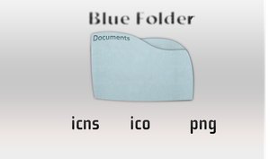 Blue Documents Folder by estremodesign