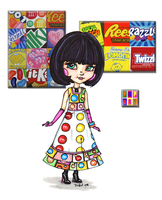 Project Runway - PoP Art Candies by JadeDragonne