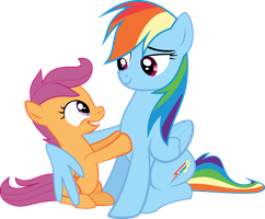 Rainbow Dash and Scootaloo by ImPlatinum