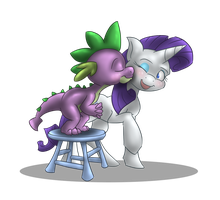 Spike x Rarity Fluff by BatLover800