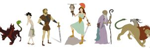 Character Design - Greek Myths by spiritwolf77