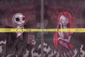 Commission : Jack and Sally by Mechamyu