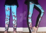 Butterfly Print Jersey Leggings by Belle-Lolita-Designs