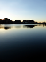 Indian summer sunset at the fishing lake V by patrickjobst