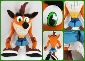 ( Crash Bandicoot ) 2001 Play by Play 26 In Plush by KrazyKari