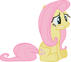 Sad Fluttershy by midnite99