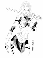 Gamora - Line art by Little-thoughtz