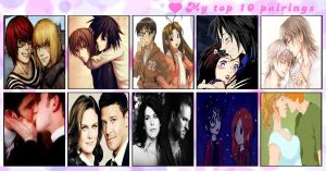 Top 10 Fave Couples-Pairings by TDIC-D-C-G-B-T-G