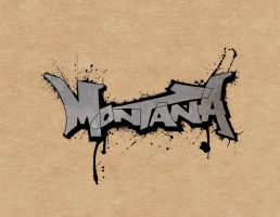splattered montana logo by lazyimbecile