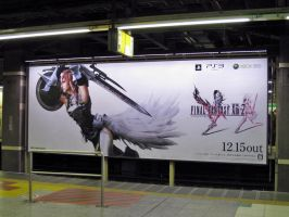 FFXIII-2 Advertisement signboard by RyuAmano