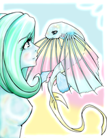 Blue and Her Fish by 8Kaylin8