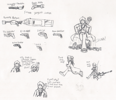 WC Trost Sketches, and random coat guns. by IrateResearchers