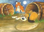 The fox and the hound by Angela-Chiappini