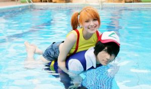 Ash and Misty Waterpool by JhonkunAGM