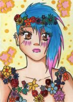 ACEO #115 - Flower Punk by Elythe