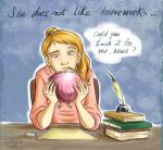 Ginny is bored.. by roby-boh