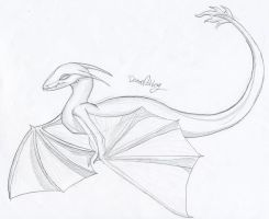 Simple Dragon by demonashley
