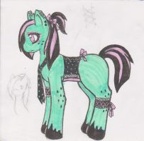 Cyberpunk Pony Adoptable - SOLD by Darquiana