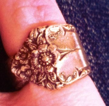 Spoon Ring by hyperrrmouse