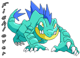 Shiny Feraligatr Pixel by Fishlover