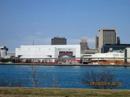Joe Louis Arena From Across The River by catsvsfox