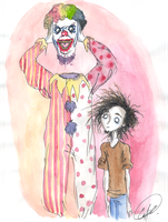 Clown  with  Head  Off by DemonCartoonist