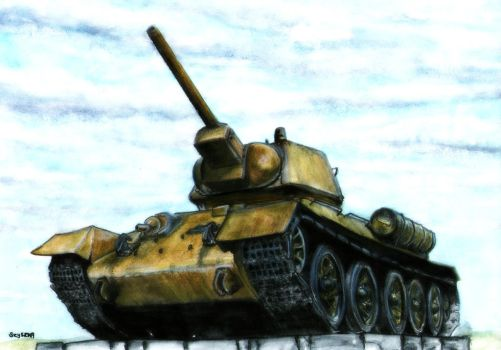 T-34 - Echo of the past by Cune