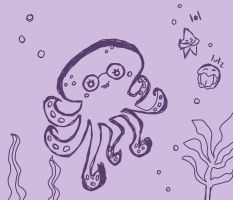 Olive the Octopus by meltyzombie
