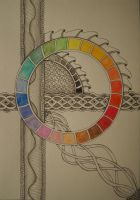 zentangle - the colour circle by CeaSanddorn