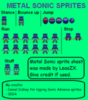 Metal Sonic Backview sprites by LeaoZX