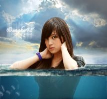 Nabilah JKT48 Underwater Photomanipulation by SaintOfArt