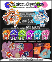 Splatoon Keychains [INFO] by SandraGH