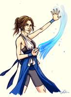 COMMISSION: Waterbender by cafe-lalonde