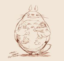 totoro by chacckco